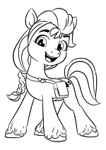 Раскраска - My Little Pony: Новое поколение - Санни Старскаут