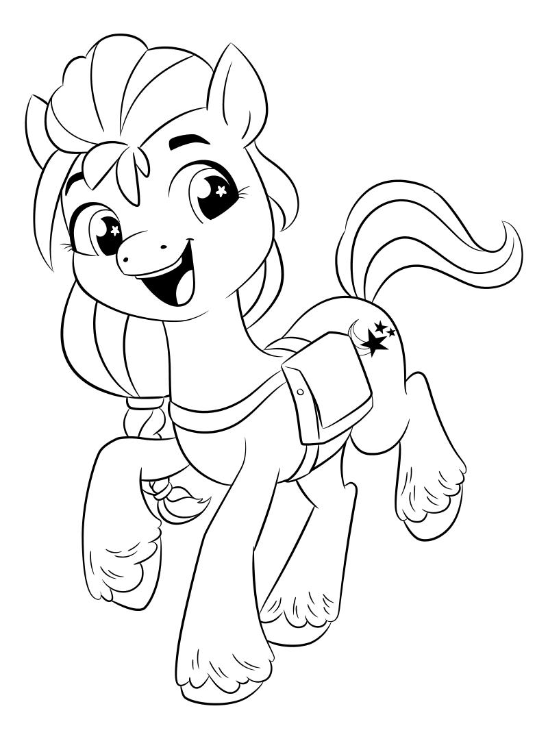 Раскраска - My Little Pony: Новое поколение - Любопытная Санни