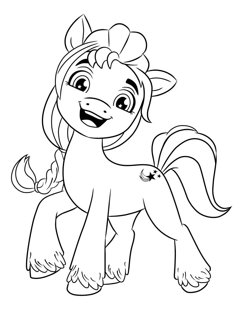 Раскраска - My Little Pony: Новое поколение - Санни любит приключения
