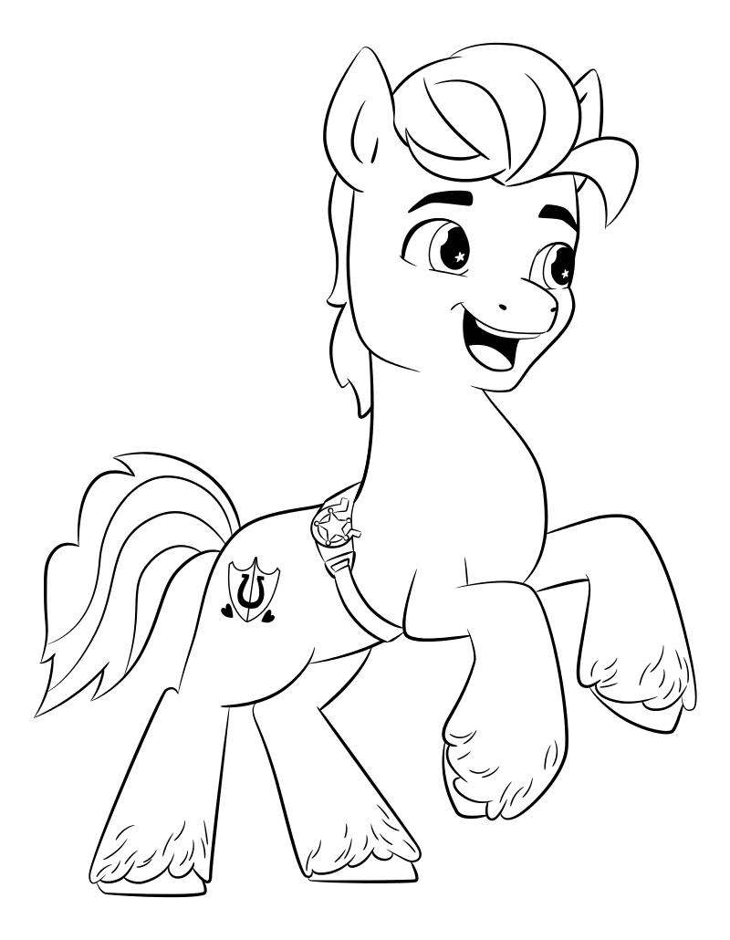 Раскраска - My Little Pony: Новое поколение - Заботливый Хитч