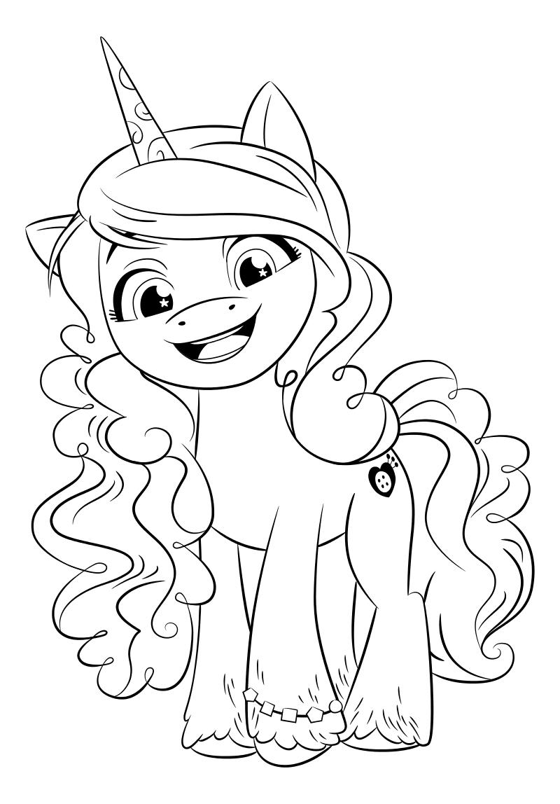 Раскраска - My Little Pony: Новое поколение - Иззи любит рукоделие