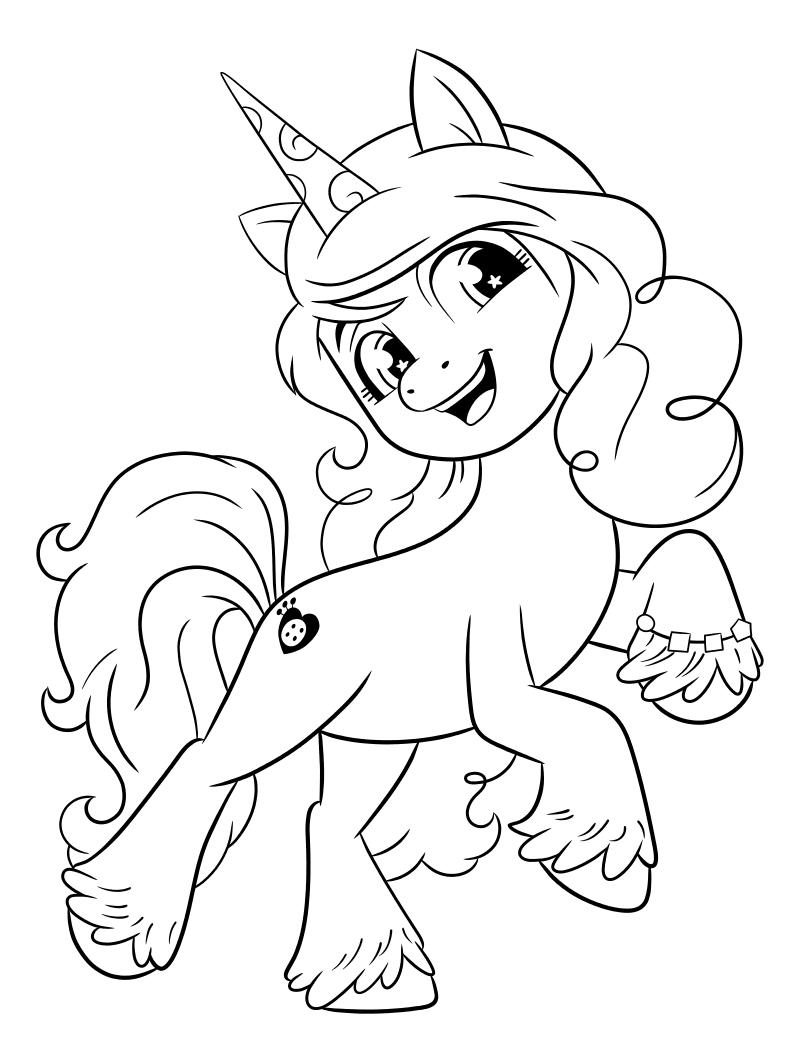 Раскраска - My Little Pony: Новое поколение - Энергичная Иззи