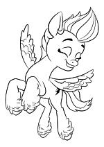 Раскраска - My Little Pony: Новое поколение - Зипп строптивая принцесса