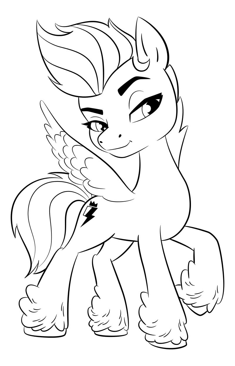 Раскраска - My Little Pony: Новое поколение - Зипп Шторм