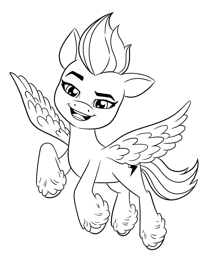 Раскраска - My Little Pony: Новое поколение - Зипп увлекается спортом
