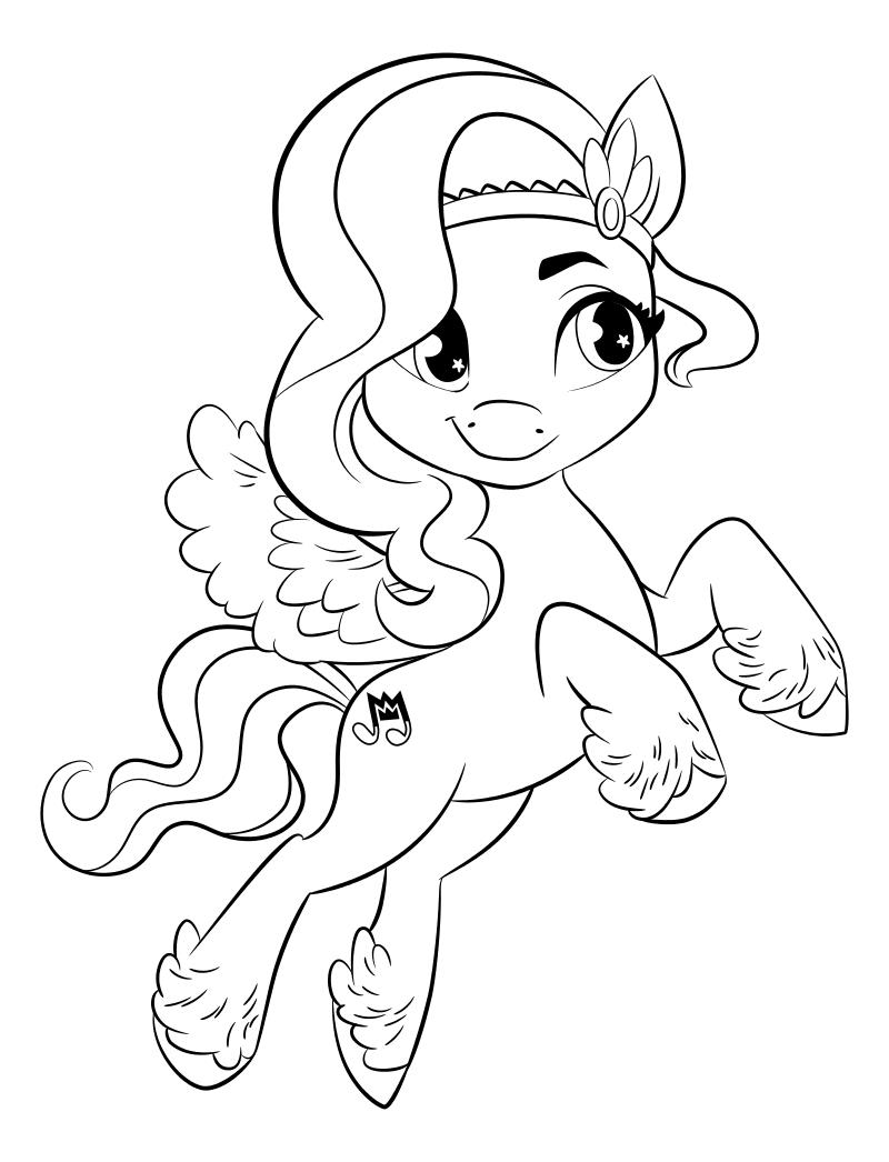 Раскраска - My Little Pony: Новое поколение - Пипп Петалс