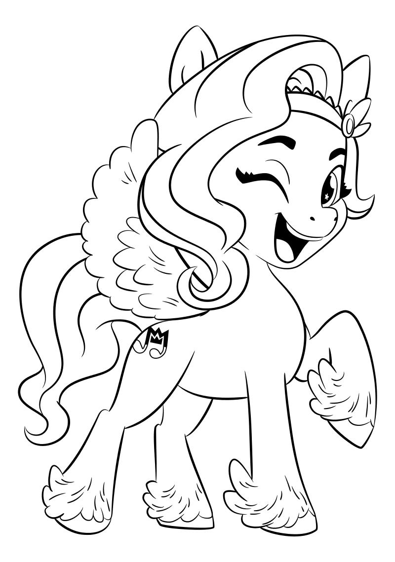 Раскраска - My Little Pony: Новое поколение - Пипп любит петь