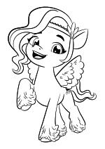 Раскраска - My Little Pony: Новое поколение - Пипп стильная принцесса