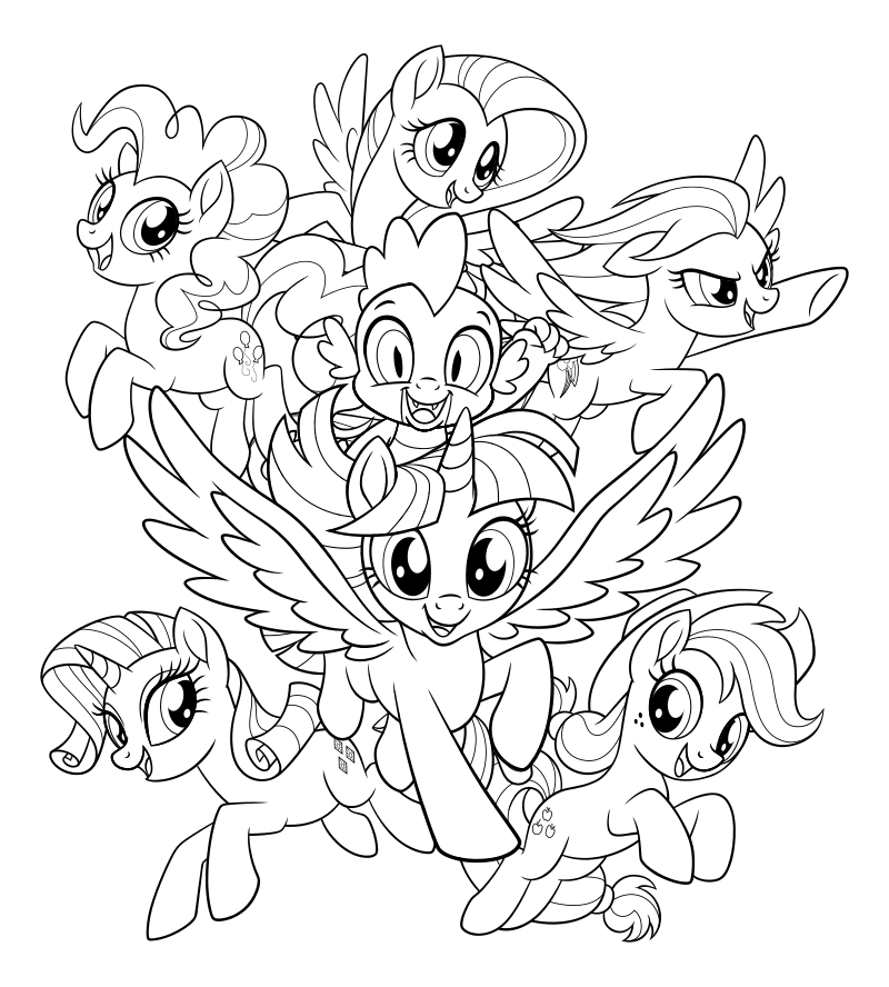 Раскраска - My Little Pony в кино - My Little Pony в кино ...