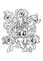 Раскраска - My Little Pony в кино - My Little Pony в кино