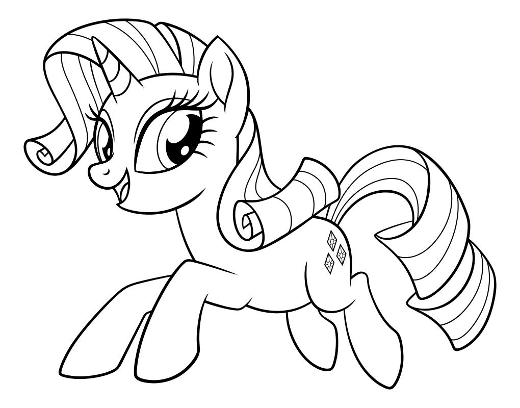 Раскраска - My Little Pony в кино - Рарити | MirChild