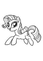 Раскраска - My Little Pony в кино - Рарити