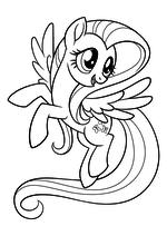 Раскраска - My Little Pony в кино - Флаттершай