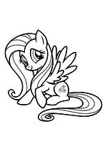 Раскраска - My Little Pony в кино - Моя маленькая пони - Флаттершай