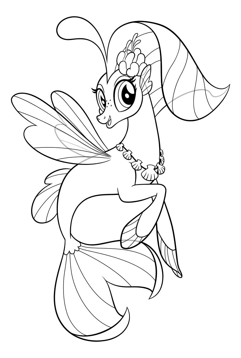 Раскраска - My Little Pony в кино - Принцесса Небесная ...