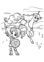 Раскраска - Нелла - отважная принцесса - Нелла в доспехах и Тринкет
