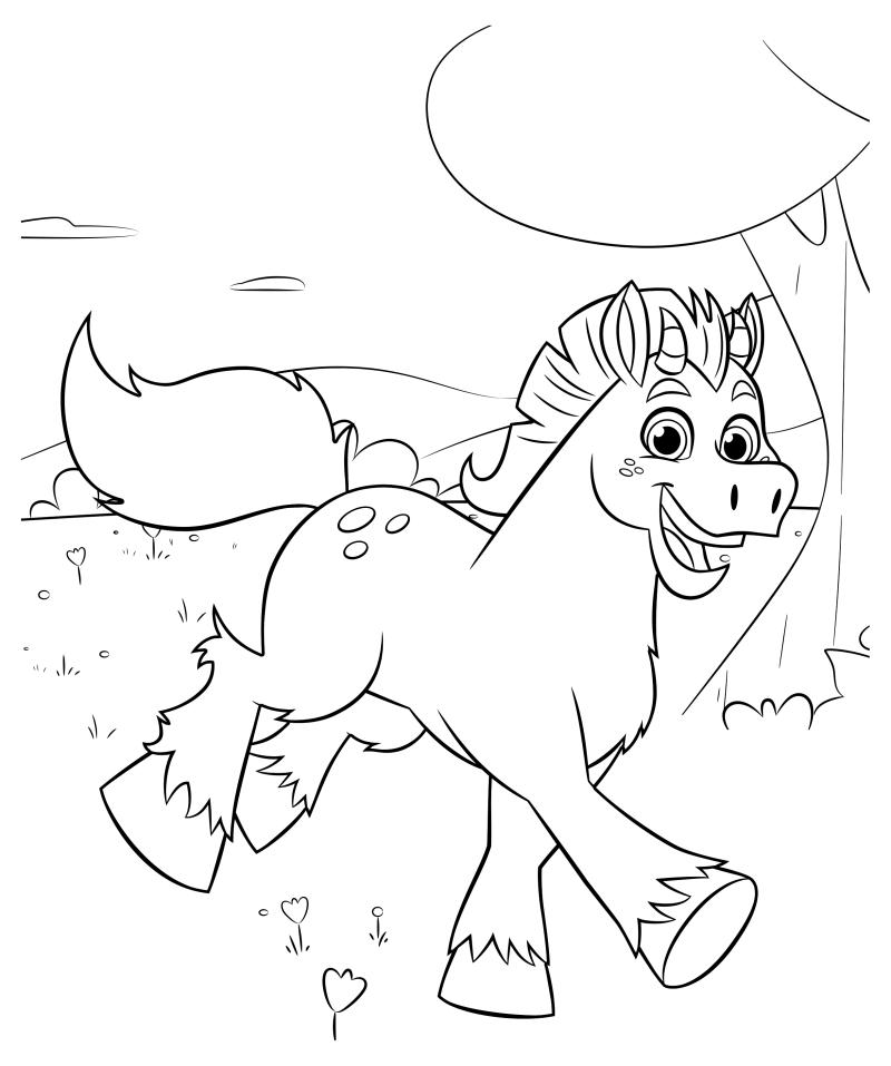 Раскраска - Нелла - отважная принцесса - Конь Клод   MirChild
