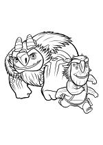 Раскраска - Охотники на троллей - Ааарррггхх и Блинки