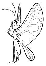 Раскраска - Пчёлка Майя: Новые приключения - Бабочка Беатрис