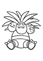 Раскраска - Покемон - 103 - Экзеггутор