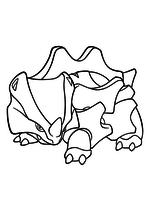Раскраска - Покемон - 111 - Райхорн