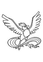 Раскраска - Покемон - 144 - Артикуно