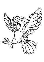 Раскраска - Покемон - 017 - Пиджеотто
