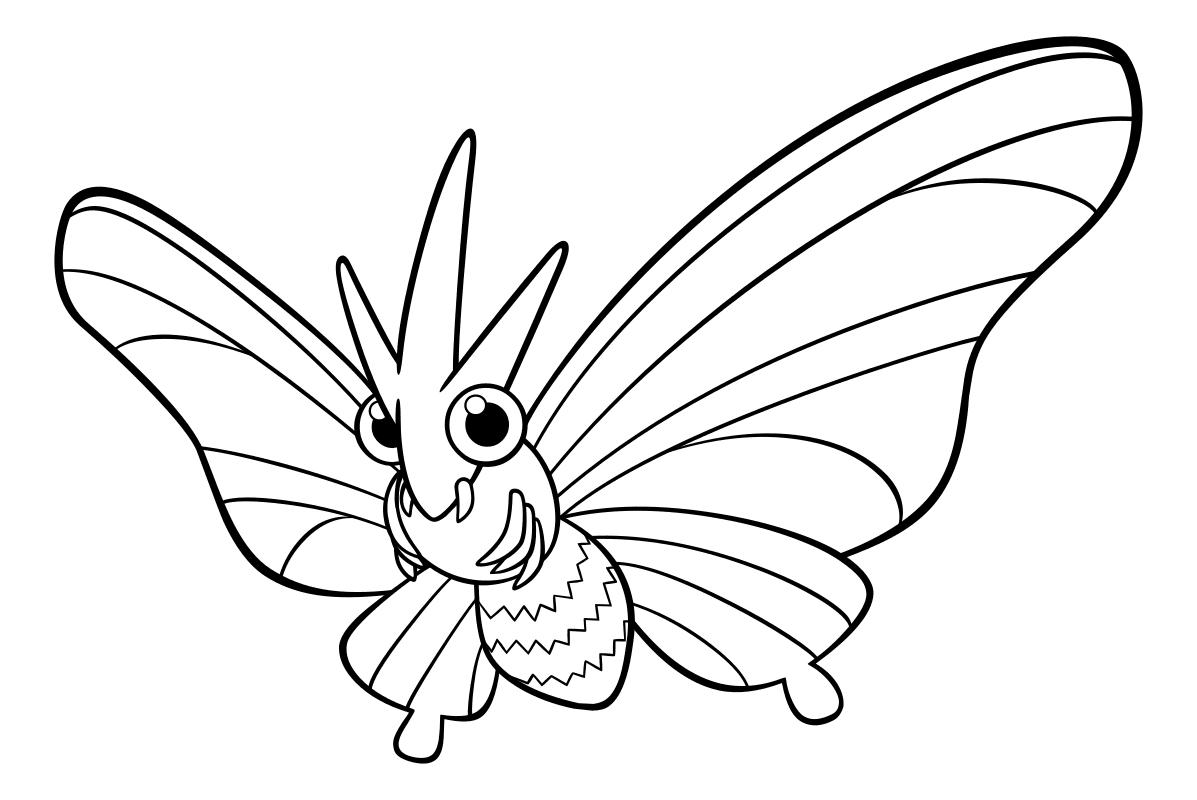 Раскраска - Покемон - 049 - Веномот   MirChild