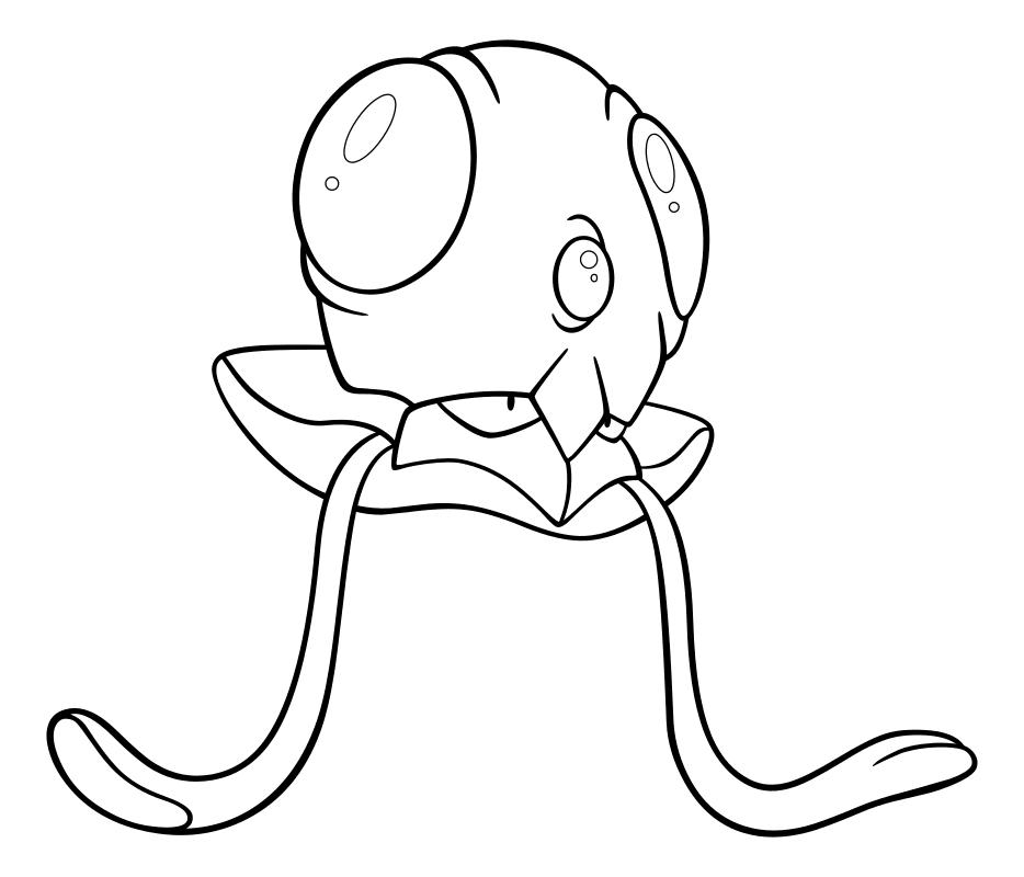 Раскраска - Покемон - 072 - Тентакул   MirChild