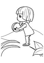 Раскраска - Приключения Незнайки и его друзей - Кнопочка