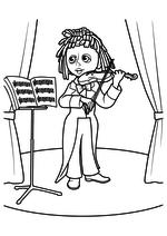 Раскраска - Приключения Незнайки и его друзей - Музыкант Гусля