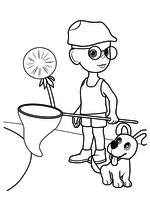 Раскраска - Приключения Незнайки и его друзей - Авоська и Булька