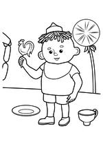 Раскраска - Приключения Незнайки и его друзей - Пончик