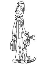Раскраска Папа Дяди Фёдора и пёс Шарик