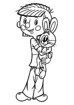 Раскраска Дядя Фёдор и заяц
