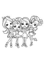 Раскраска - Радужные Рейнджеры - Пеппер, Анна, Бонни и Лаванда