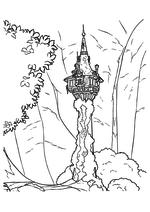 Раскраска - Рапунцель: Запутанная история - Башня матушки Готель