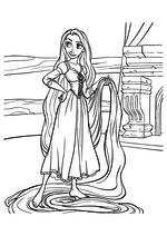 Раскраска - Рапунцель: Запутанная история - Рапунцель с длинными волосами