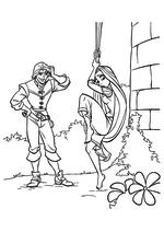 Раскраска - Рапунцель: Запутанная история - Флин Райдер (Юджин) ждёт Рапунцель