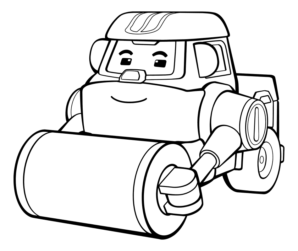 раскраска робокар поли каток макс Mirchild