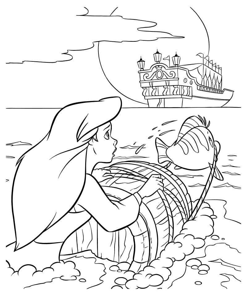 заказать картинки раскраски к рассказу русалочка заливки