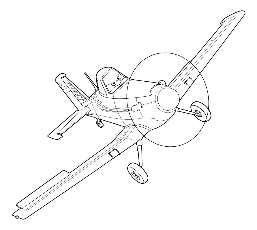 раскраска самолеты самолёт дасти Mirchild