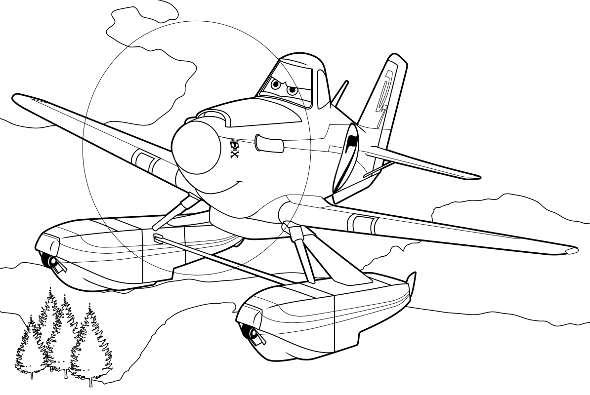 Раскраска - Самолёты: Огонь и вода - Дасти Полейполе ...