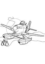 Раскраска - Самолёты: Огонь и вода - Дасти Полейполе