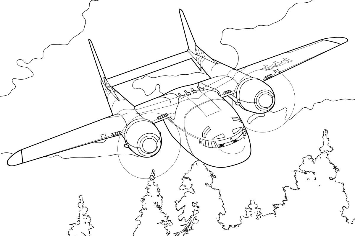 Раскраска - Самолёты: Огонь и вода - Экспресс