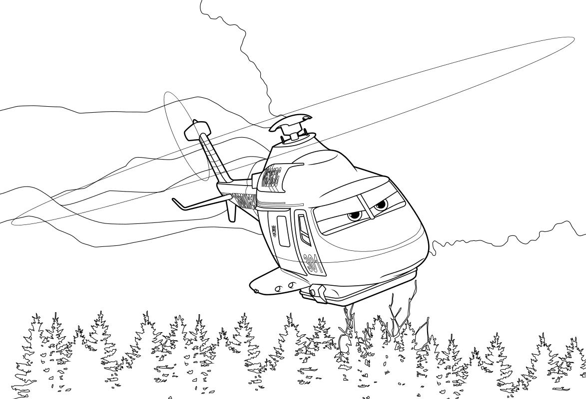 Раскраска - Самолёты: Огонь и вода - Рейнджер Винт
