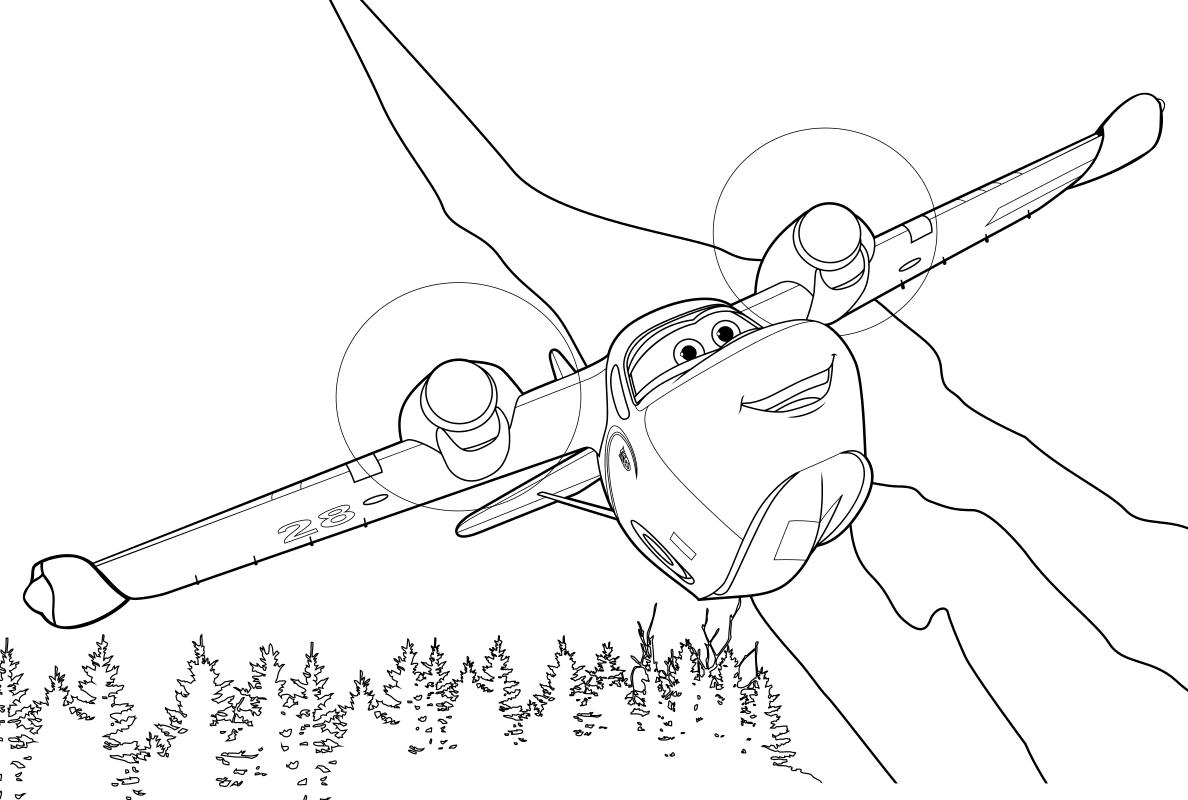 Раскраска - Самолёты: Огонь и вода - Плюшка