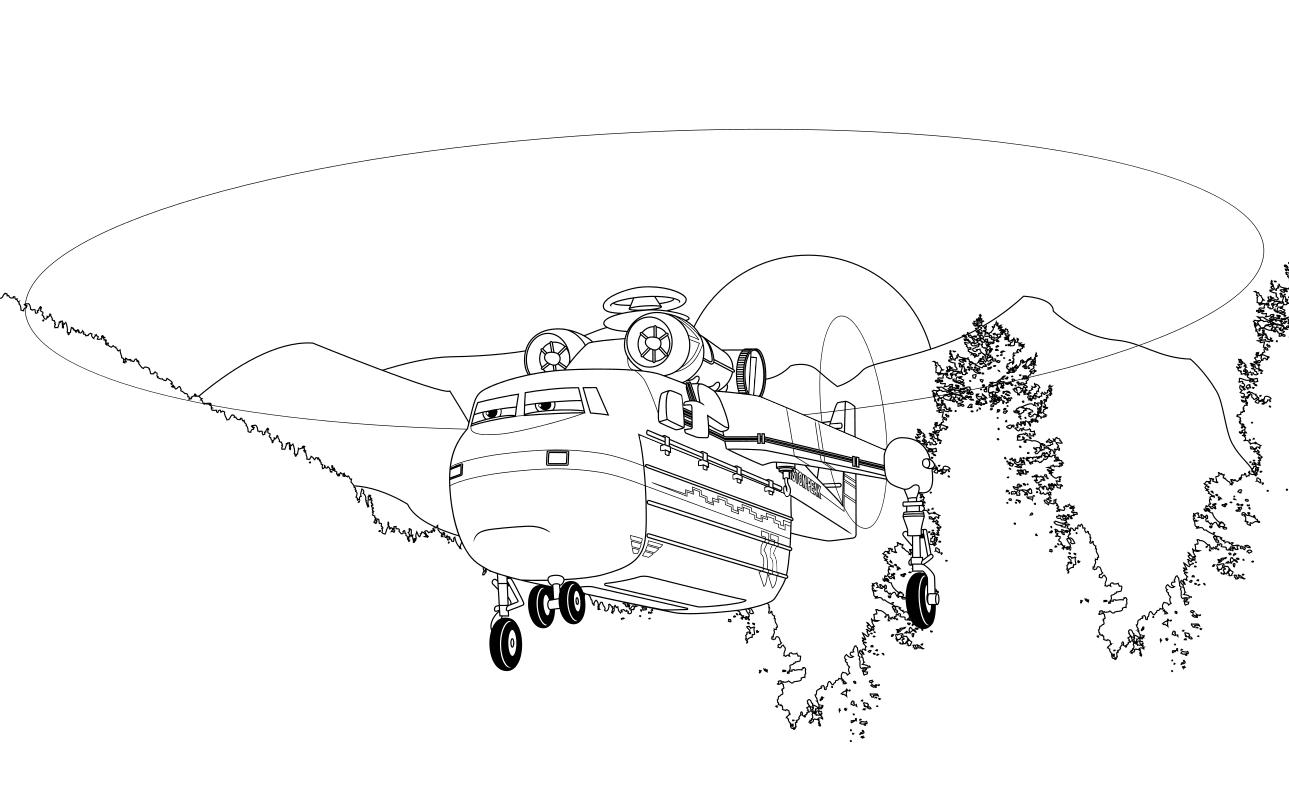 Раскраска - Самолёты: Огонь и вода - Ветродуй