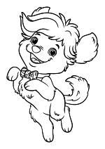 Раскраска - Санни Дэй - Говорящий щенок Дудл