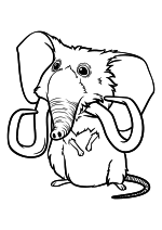 Раскраска - Семейка Крудс - Мышь-слон